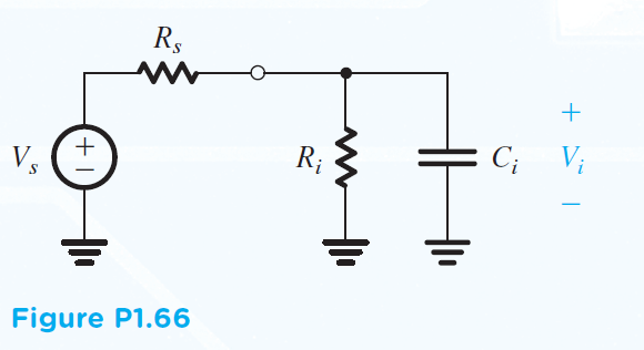 1.66 Figure P1.66 shows a signal source connected