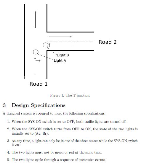 design and implement a traffic light control syste