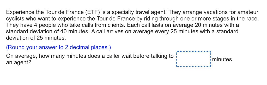 solved: experience the tour de france (etf) is a specialty