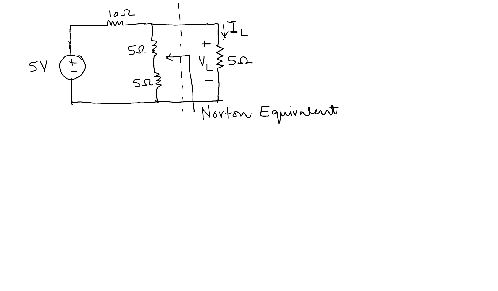 Determine the Norton equivalent as indicated in th