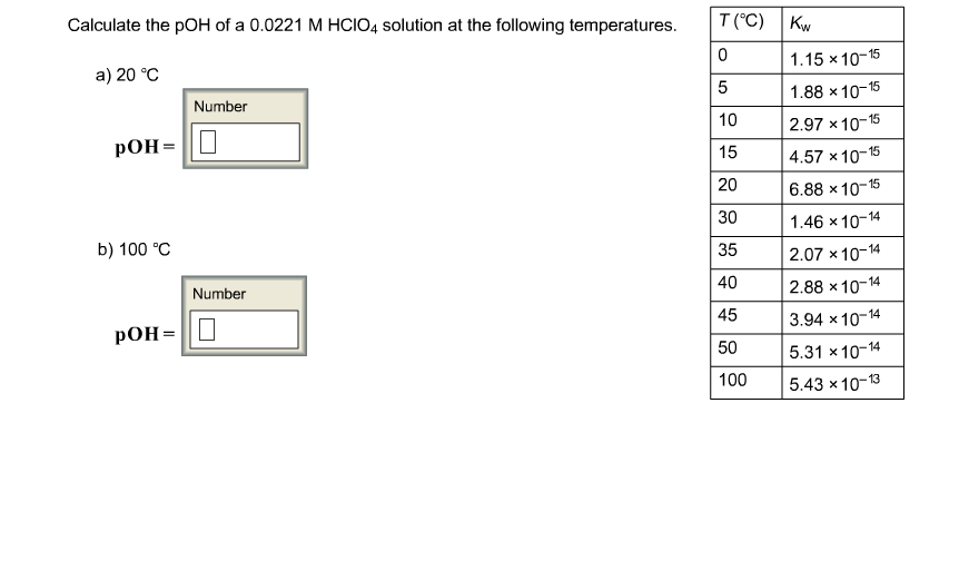 Calculate The POH Of A 0.0221 M HClO4 Solution At ... | Chegg.com