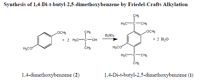 friedel crafts alkylation of benzene and dimethoxybenzene In this experiment you will be carrying out an eas reaction akin to a friedel- crafts alkylation but instead of the standard f-c conditions — alkyl chloride and .