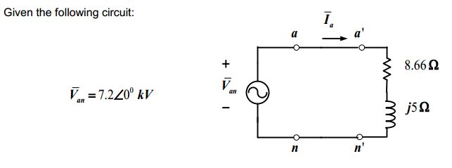 Given the following circuit: Recall the ac circui