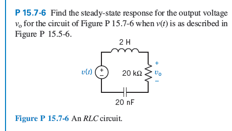 Find the steady-state response for the output volt