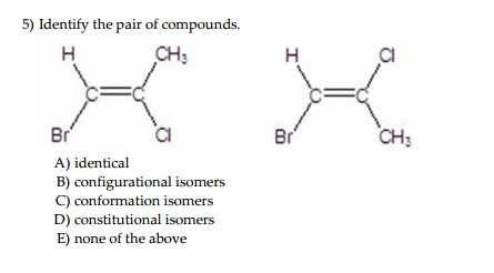 how to know if compounds pairs are identical