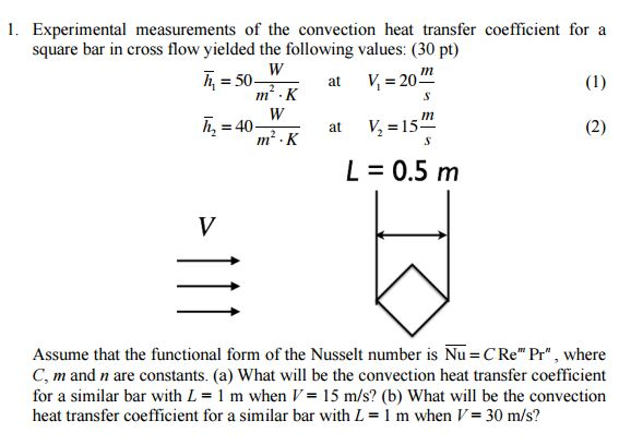 find the convection heat transfer coefficient Basic heat transfer and some applications in  heat transfer is a branch of engineering  there are three modes of heat transfer: conduction, convection,.