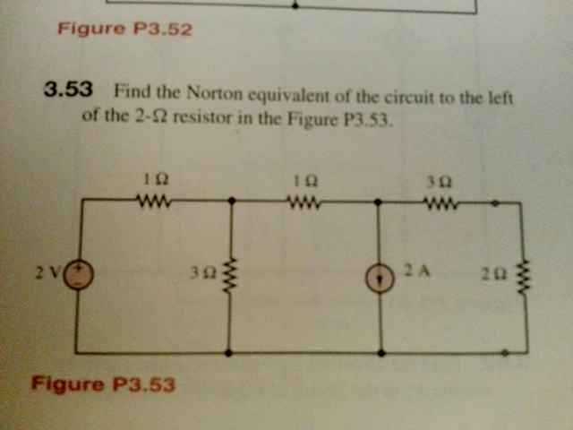 Figure P3.52 3.53 Find the Norton equivalent of t