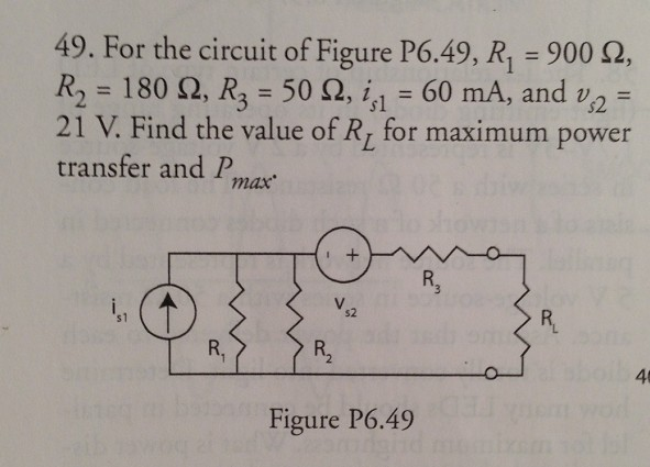 For the circuit of Figure P6.49, R1 = 900 Ohm, R2