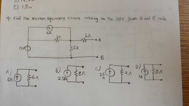 Find the Norton equivalent circuit looking to the