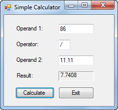 Create A Simple Calculator In C# The Design Of The...   Chegg.com