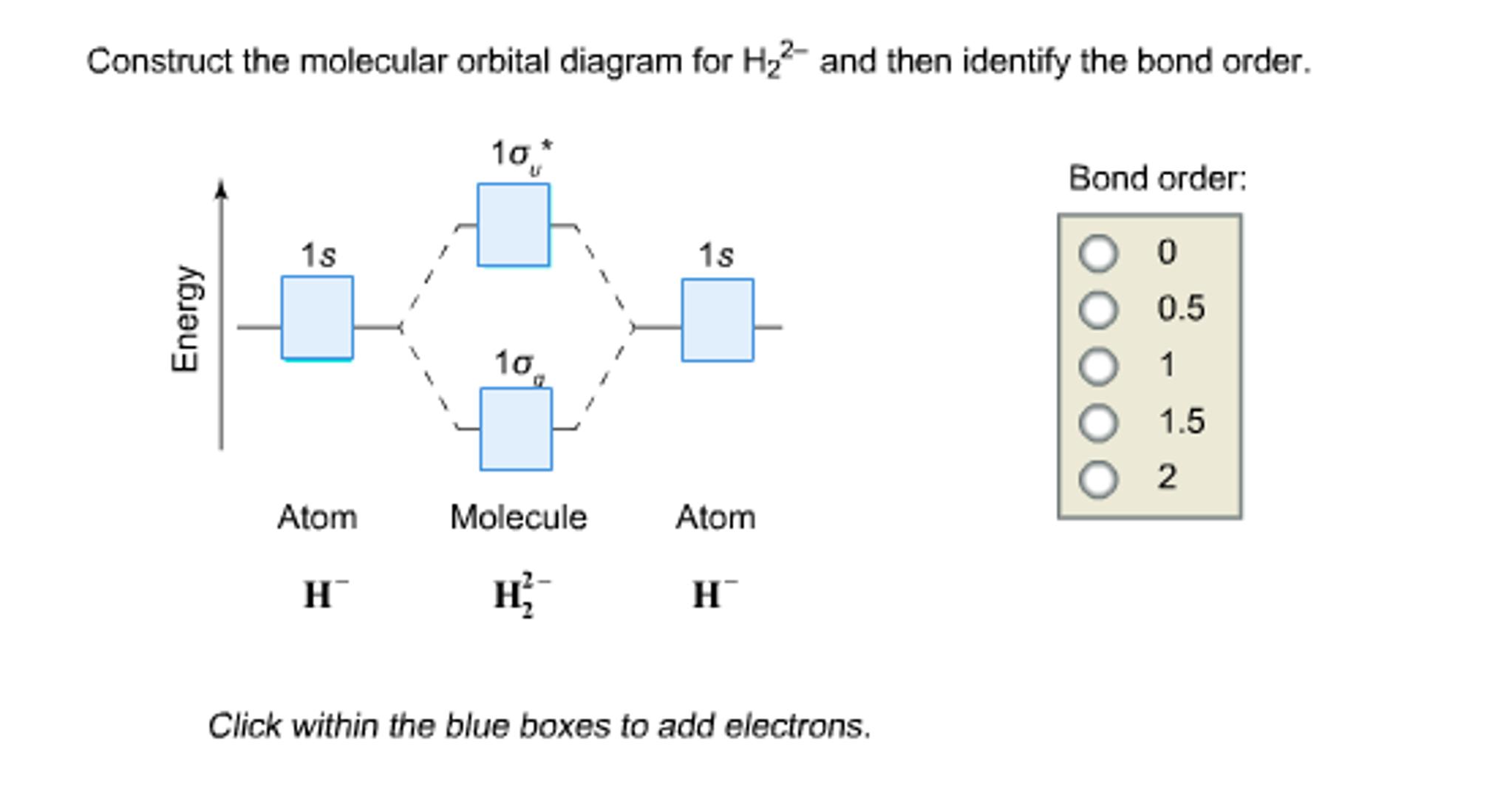 Construct the molecular orbital diagram for h22 chegg construct the molecular orbital diagram for h22 pooptronica