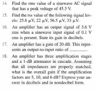 Find the rms value of a sine wave AC signal that h