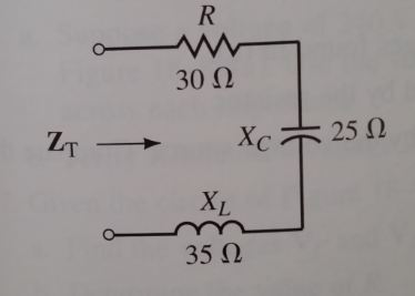 Find the total impedance of each of the networks s