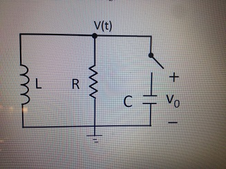 R = 1000 Ohms , C = 0.167 uF, L = 1.0 H; Voltage