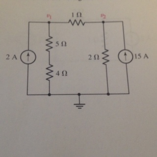 Determine the voltage across the 1 Ohm resistor