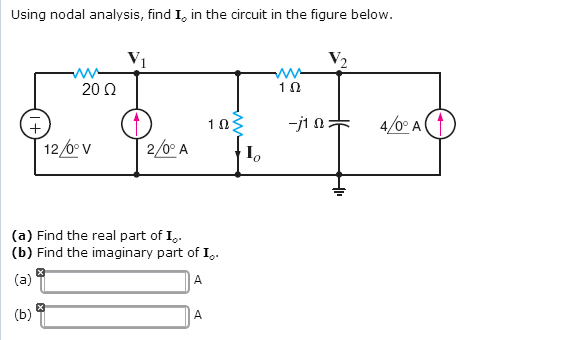 Using nodal analysis, find I in the circuit in th