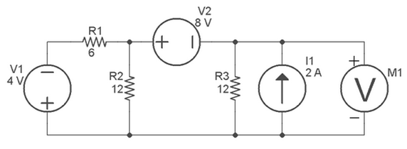 For the circuit shown in the schematic below, dete