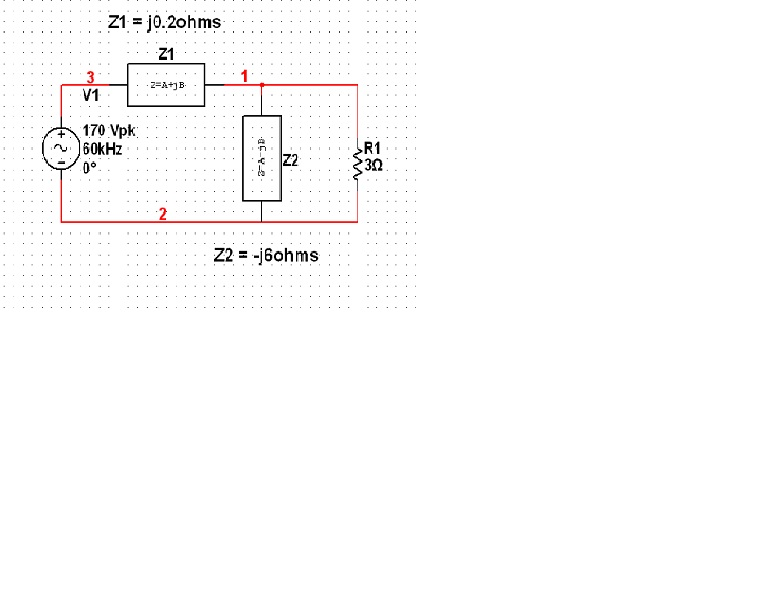 Calculate the impedance seen from the terminals of