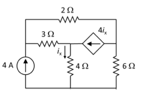find the node voltages in the circuit shown