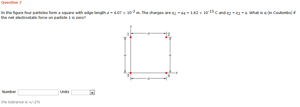 Question 7 In The Figure Four Particles Form A Squ... | Chegg.com