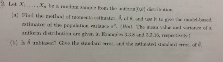how to find uniform distribution
