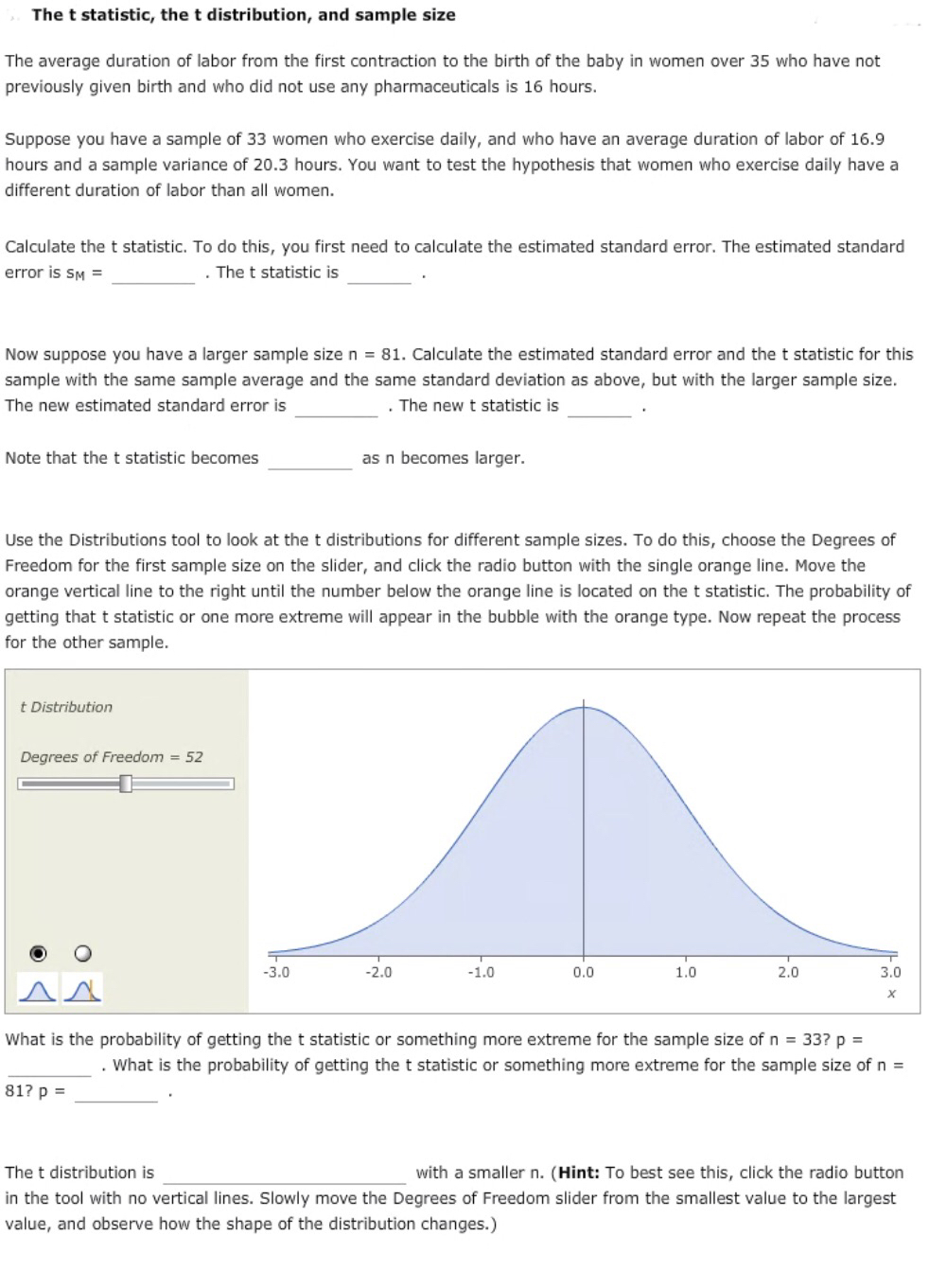 how to find t statistic