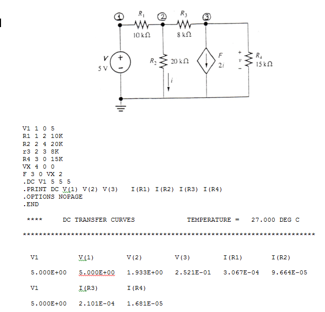 Using the results of your PSPICE analysis, Ohms la