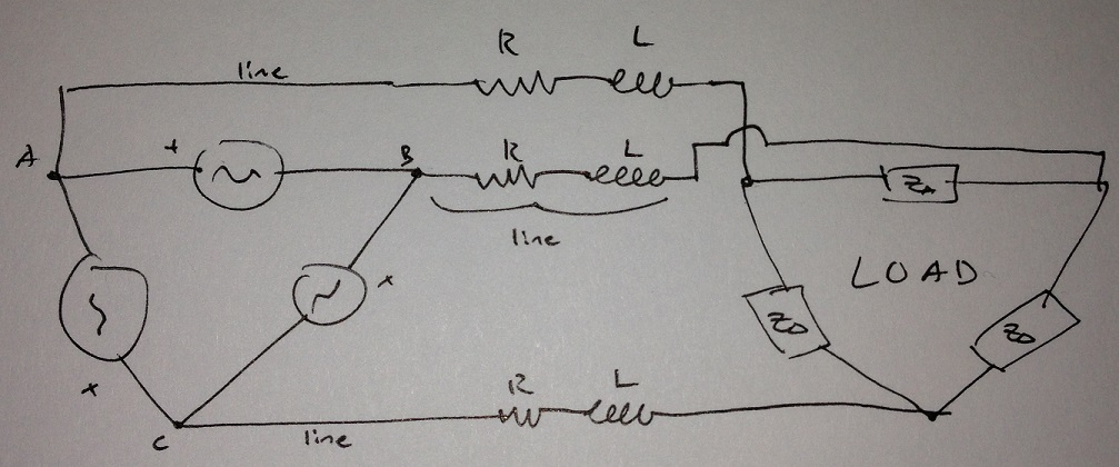 For a balanced 3-phase system where:All R = Z_R =