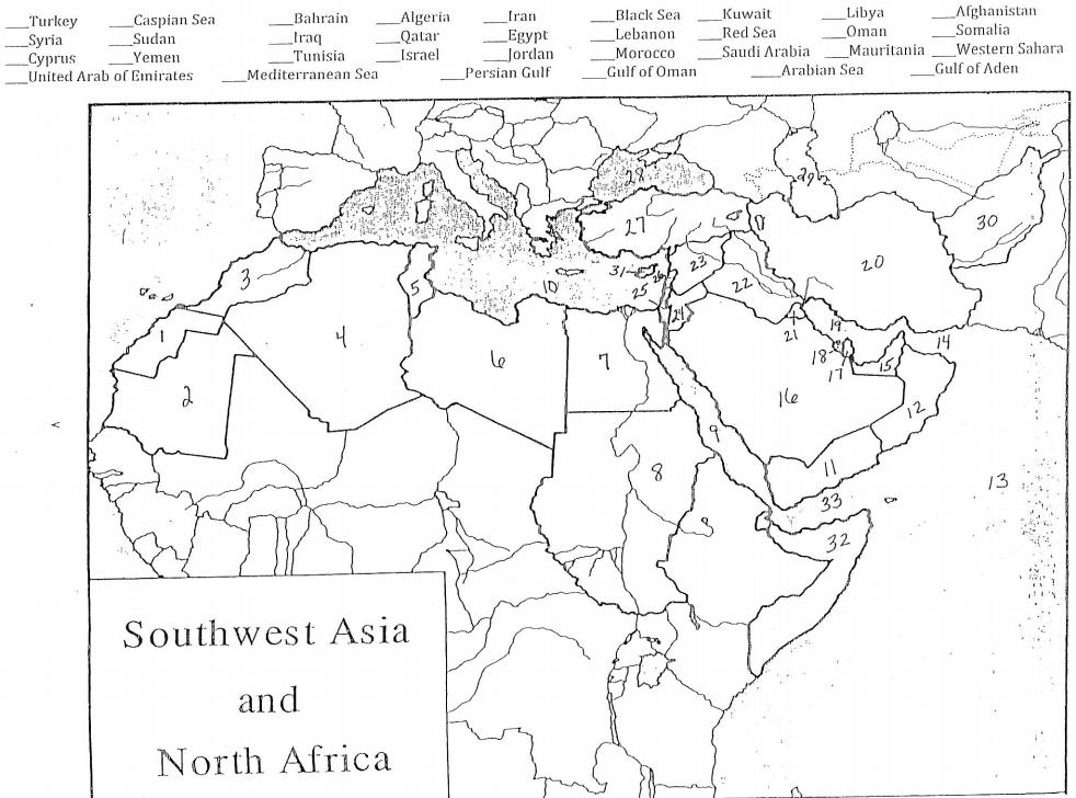 Fill In The Blank Turkey Caspian Sen Cheggcom - Libya blank map