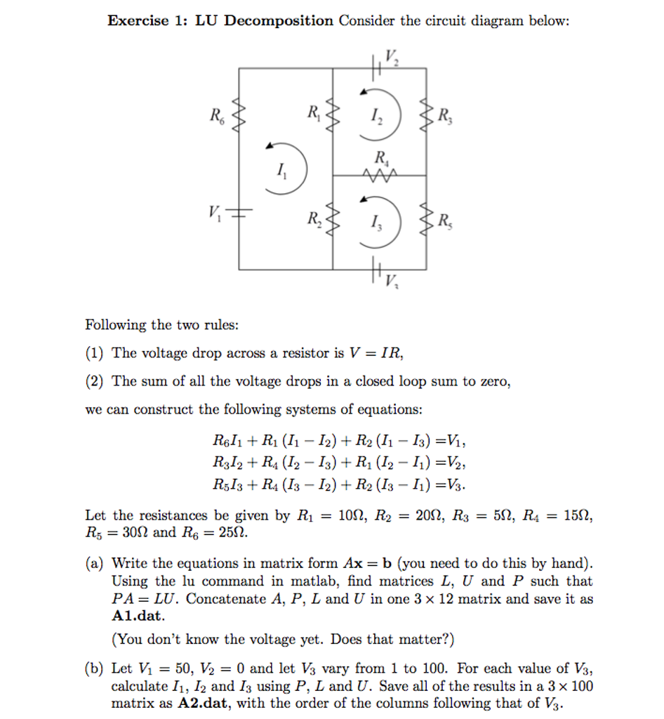 Exercise 1 lu decomposition consider the circuit chegg exercise 1 lu decomposition consider the circuit ccuart Gallery