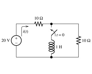 Refer to the circuit of the figure. The current th