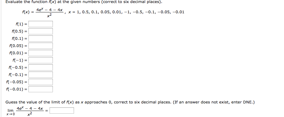 Evaluate The Function (x) At The Given Numbers (co... | Chegg.com