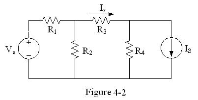In the circuit of Figure 4-2, let Vs=3 V, Is=6 A