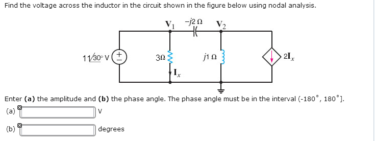 Find the voltage across the inductor in the circui