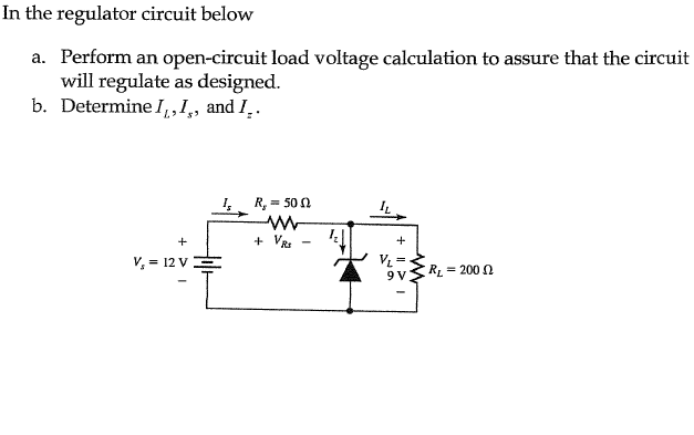 In the regulator circuit below Perform an open-ci