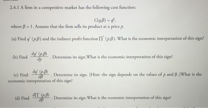 Question: A firm in a <a rel=