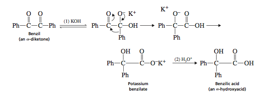 the conversion of benzaldehyde to benzilic A research and analysis report on reaction sequence: benzaldehyde to benzilic  acid different organic processes and characteristics were.