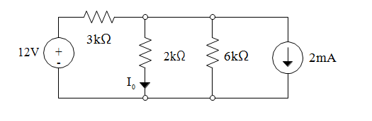 Find I 0 in the circuit below using Norton's Theor