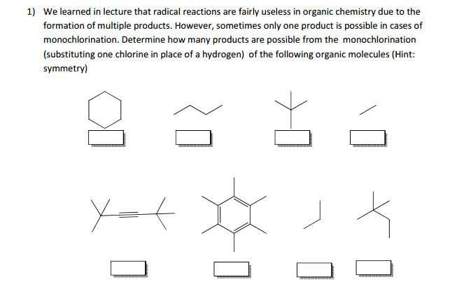 We learned in lecture that radical reactions are f
