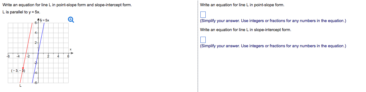 Write An Equation For Line L In Point-slope Form A... | Chegg.com