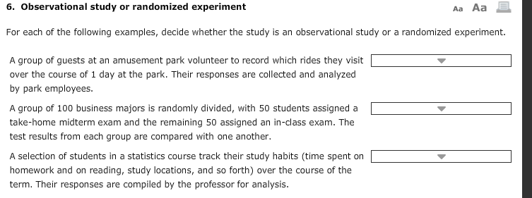 observational study or randomized experiment fo com observational study or randomized experiment for each of the following examples decide whether