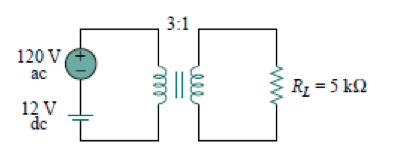 Determine the voltage across the load in the circu