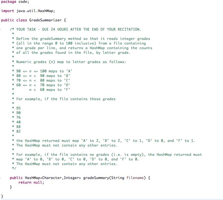 Solved: Package Code; Import Java.util.HashMap; Public Cla ...