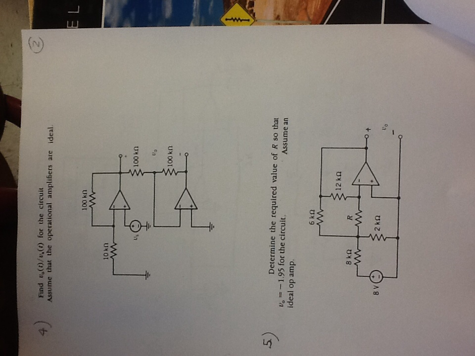 Find v0(t)/vs(t) for the circuit Assume that the o