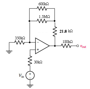What value of Vin will lead to an output voltage o