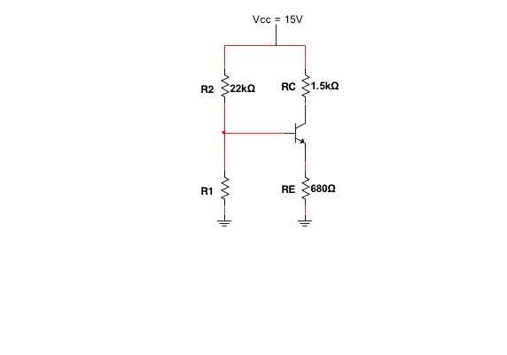 Determine the Q-point of the following CE circuit,