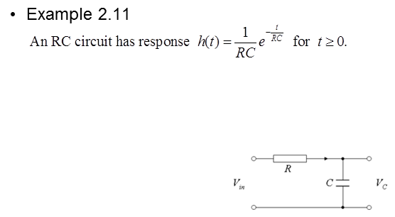For the RC circuit shown in Example 2.11 (Lecture