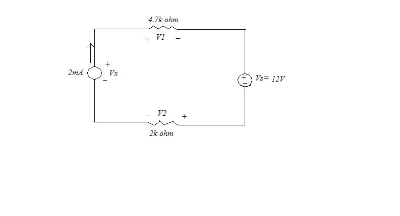 Determine: (a) loop current, (b) voltage