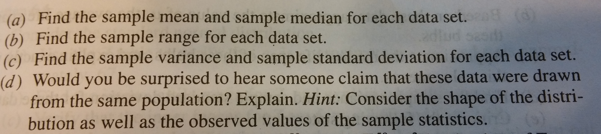 Consider these data sets find the sample mean and chegg show transcribed image text consider these data sets find the sample mean and sample median for each data set find the sample range for each data set ccuart Gallery