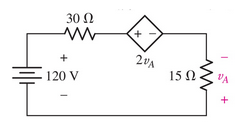Find power absorbed by the 30 ohm resistor.